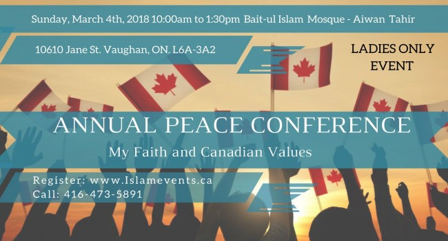 Canadian Muslim Women Host Interfaith Peace Conference